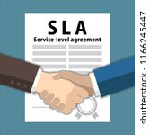 service level agreement ... | Shutterstock .eps vector #1166245447