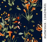 blooming  flowers. realistic... | Shutterstock .eps vector #1166246431