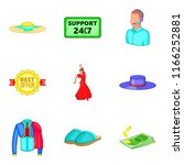 admission icons set. cartoon... | Shutterstock . vector #1166252881