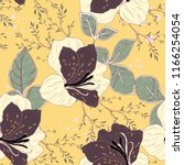 elegance pattern with flowers... | Shutterstock .eps vector #1166254054