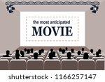 people in the cinema hall ... | Shutterstock . vector #1166257147