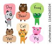 animals character vector design | Shutterstock .eps vector #1166268334