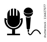 vector microphone icons | Shutterstock .eps vector #116627077