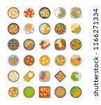 best dishes for dinner pack    | Shutterstock .eps vector #1166271334