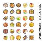 dinner ideas icons pack     | Shutterstock .eps vector #1166271337