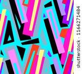 seamless urban funky geometric ...   Shutterstock . vector #1166271484