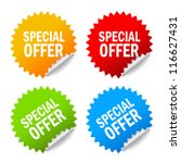 vector special offer labels set | Shutterstock .eps vector #116627431
