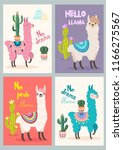 set of greeting cards with... | Shutterstock .eps vector #1166275567