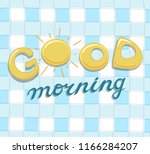 good morning lettering ... | Shutterstock .eps vector #1166284207