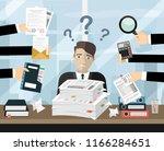 person at work multitasking ...   Shutterstock .eps vector #1166284651