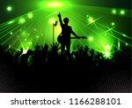 concert rock performer cheerful ... | Shutterstock . vector #1166288101
