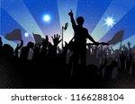 concert rock performer cheerful ... | Shutterstock . vector #1166288104