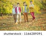 children's fashion in autumn  | Shutterstock . vector #1166289391