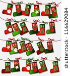 christmas calendar with... | Shutterstock .eps vector #116629084