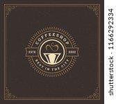 coffee shop logo design...   Shutterstock .eps vector #1166292334