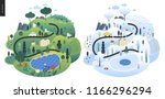 magical season landscape   an... | Shutterstock .eps vector #1166296294