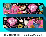 pastry shop cafe banners... | Shutterstock .eps vector #1166297824
