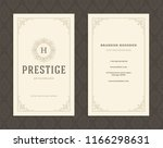 luxury business card and... | Shutterstock .eps vector #1166298631