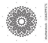 beautiful vector circular... | Shutterstock .eps vector #1166299171