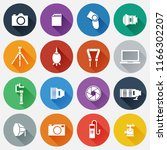 set of photography icons in... | Shutterstock .eps vector #1166302207