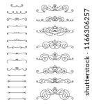 swirl text divider set   Shutterstock .eps vector #1166306257