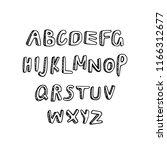 handwritten vector alphabet...   Shutterstock .eps vector #1166312677
