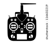 vector remote control rc transmitter black icon
