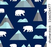 seamless pattern with mountain... | Shutterstock .eps vector #1166326477