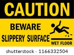Beware Slippery Surface Sign....