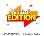 special edition  banner design... | Shutterstock .eps vector #1166334667