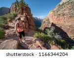 zion national park  utah usa 6... | Shutterstock . vector #1166344204