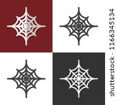 spider web icons | Shutterstock .eps vector #1166345134