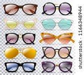 glasses vector cartoon... | Shutterstock .eps vector #1166348944