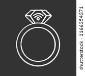 nfc ring chalk icon. near field ... | Shutterstock .eps vector #1166354371