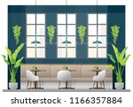 interior scene of modern... | Shutterstock .eps vector #1166357884