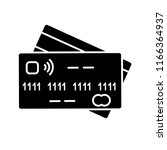 nfc credit card glyph icon.... | Shutterstock .eps vector #1166364937