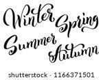 spring summer autumn winter... | Shutterstock .eps vector #1166371501