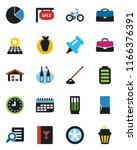 color and black flat icon set   ... | Shutterstock .eps vector #1166376391