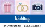 wedding icon set | Shutterstock .eps vector #1166383864