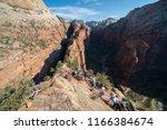 zion national park  utah usa 6... | Shutterstock . vector #1166384674