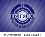 index with jean texture | Shutterstock .eps vector #1166386657