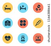 antibiotic icons set with... | Shutterstock .eps vector #1166388661