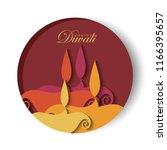 diwali festival greeting card... | Shutterstock .eps vector #1166395657