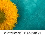 Bright Yellow Sunflower On A...