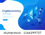 cryptocurrency exchange concept ... | Shutterstock .eps vector #1166399737