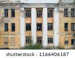 vintage damaged abandoned... | Shutterstock . vector #1166406187
