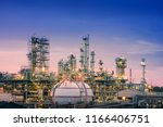 oil and gas refinery plant or... | Shutterstock . vector #1166406751