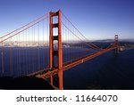 San Francisco landmark - Golden Gate bridge - stock photo