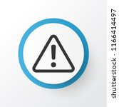 caution icon symbol. premium... | Shutterstock .eps vector #1166414497