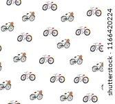 belgium bicycles  hand drawn...   Shutterstock . vector #1166420224
